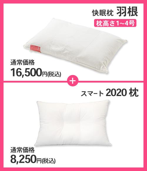 快眠枕 羽根+スマート2020 セット