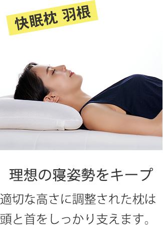 快眠枕 羽根