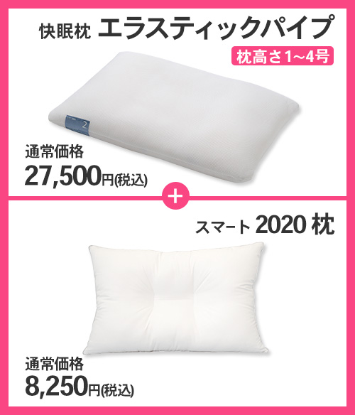快眠枕 エラステックパイプパイプ+スマート2020 セット