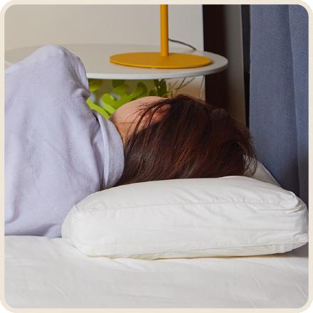 枕の高さが合わず横向き寝がしっくりこない