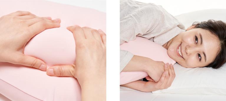 枕専門店がつくった抱き枕だから身体にフィットする絶妙な流線型の形とつるつるの極上な肌触り